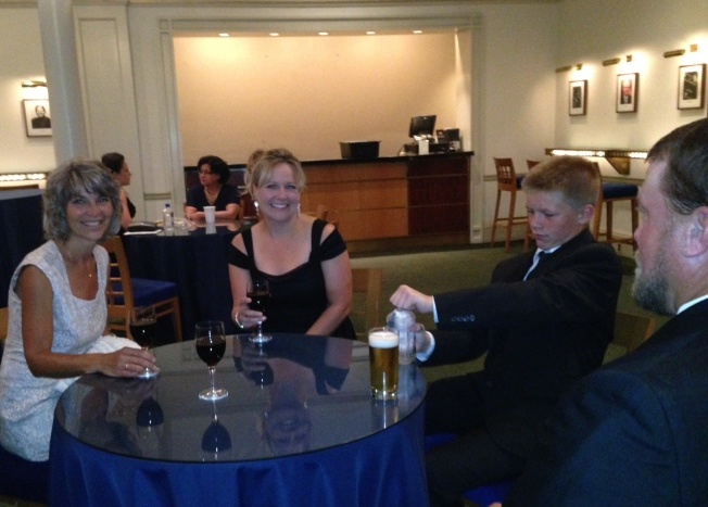 Lori, myself, Sid, and Chris in the bar at Carnegie Hall.